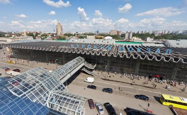 Вид на здание Курского вокзала