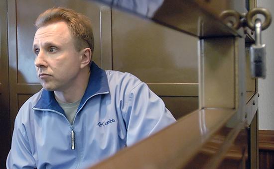 Бывший сотрудник службы безопасности ЮКОСа Алексей Пичугин в зале заседания Мосгорсуда. Май 2006 года