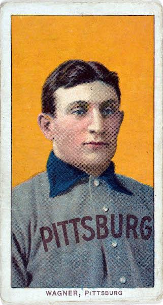 Карточка T206 Honus Wagner с игроком «Питтсбург Пайрэтс» Хонусом Вагнером 1909 года
