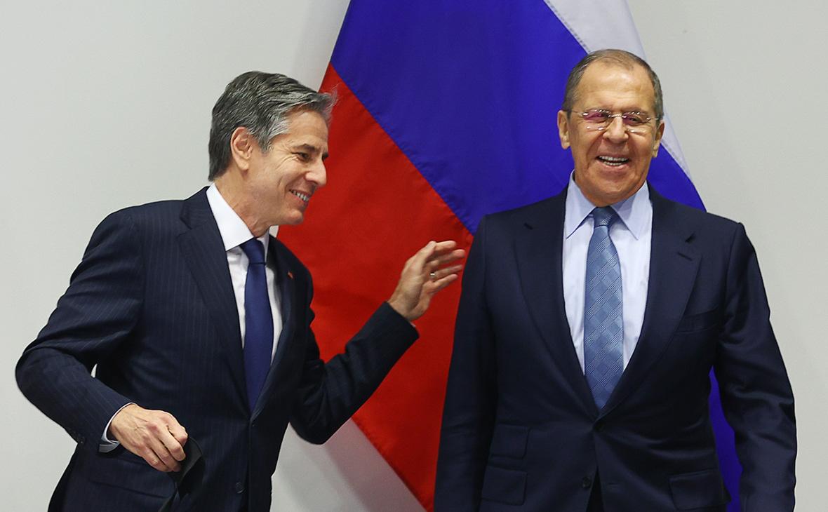 Сергей Лавров (справа) и Энтони Блинкен