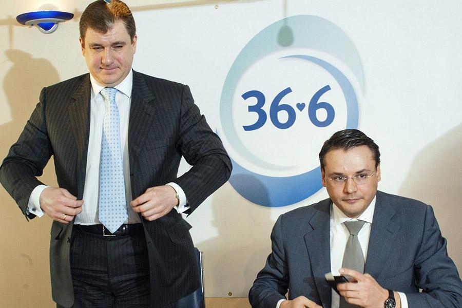 Председатель Совета директоров сети аптек «36.6» Сергей Кривошеев и генеральный директор компании Артем Бектемиров (слева направо)