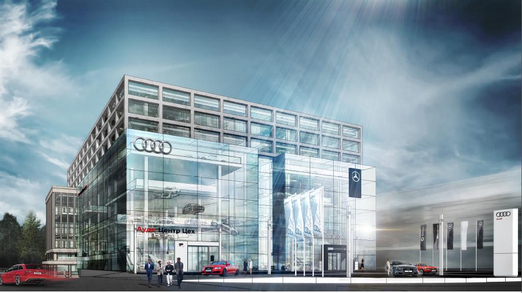 Фото:Из портфолио Kleinewelt Architekten: дилерский центр Audi и Mercedes-Benz на ЗИЛе