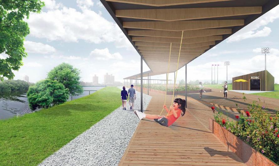 Проектное решение парка вБратеевской пойме