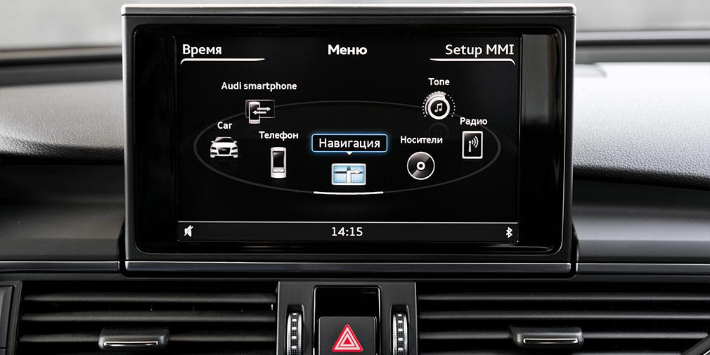 В мультимедийной системе A7 нет сенсорного управления—иэто хорошо.