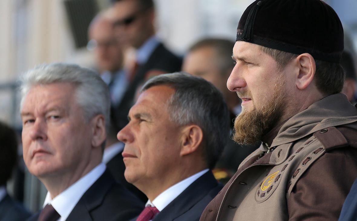 Сергей Собянин, Рустам Минниханов и Рамзан Кадыров