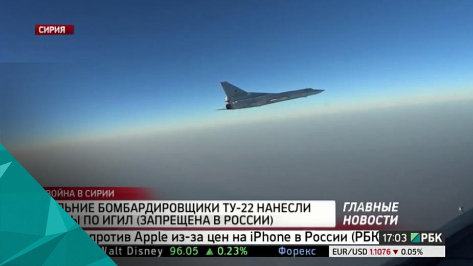 Дальние бомбардировщики Ту-22 нанесли удары по ИГИЛ Дальние бомбардировщики Ту-22 нанесли удары по позициям запрещенной в России группировки ИГИЛ, сообщает Министерство обороны.