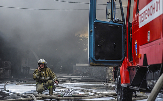 Тушение пожара, июль 2015 года