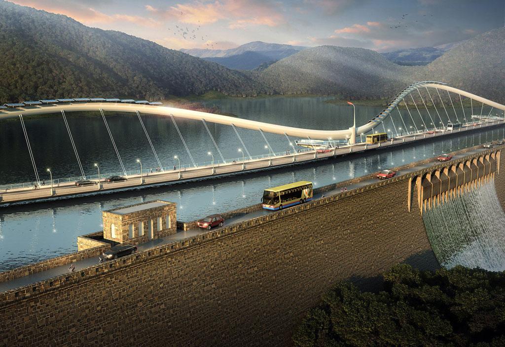 Проект необычного моста под плотиной на юге острова Гонконг получил название Dragon's Link