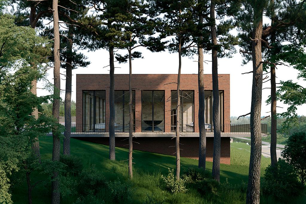 Проект дома на территории комплекса отдыха Pakhra в Московской области