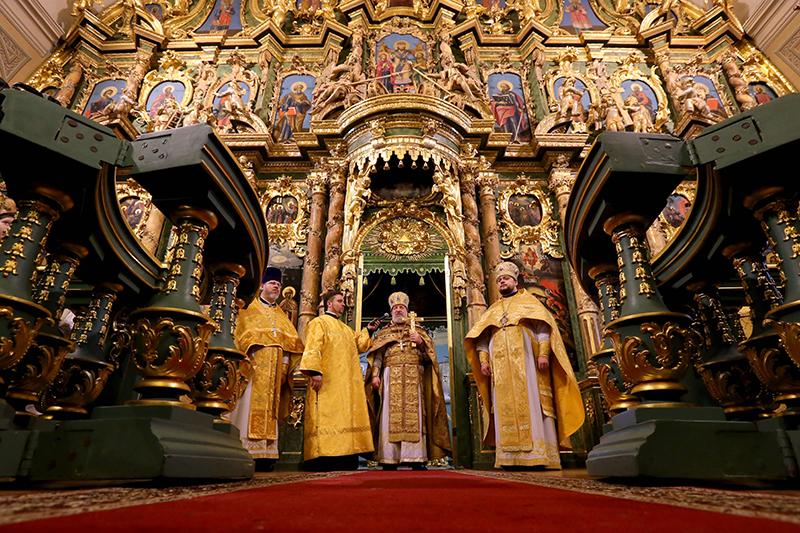 Божественная литургия в Сампсониевском соборе
