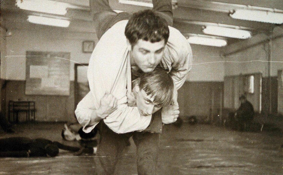 Владимир Путин и Василий Шестаков во время тренировки. 1971 год