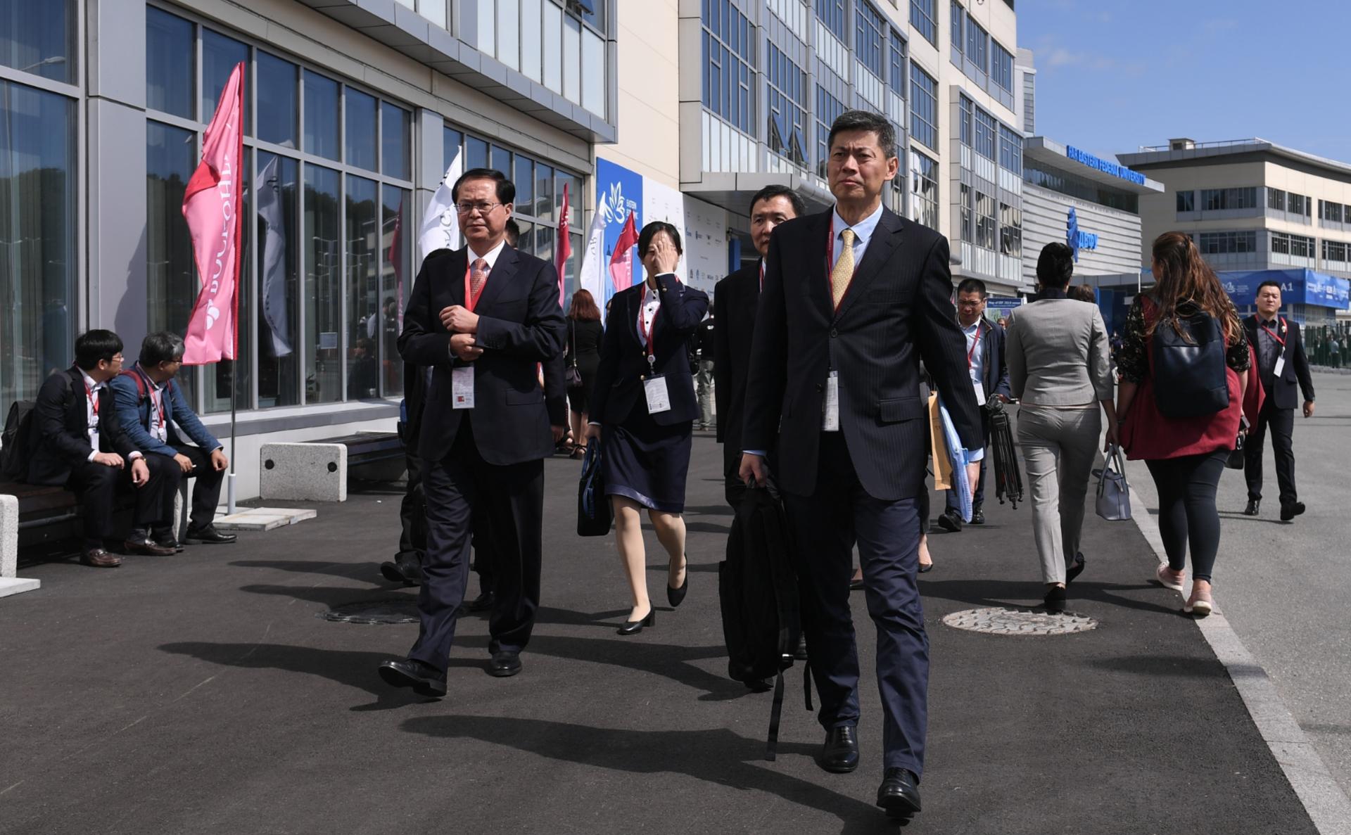 Участники IV Восточного экономического форума во Владивостоке