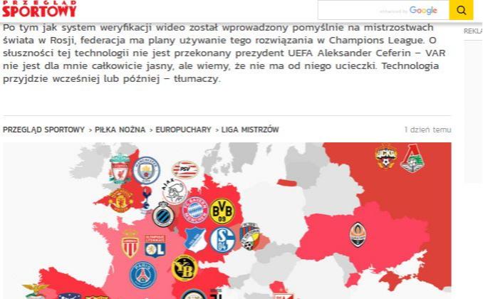 Фото: Скриншот : www.przegladsportowy.pl