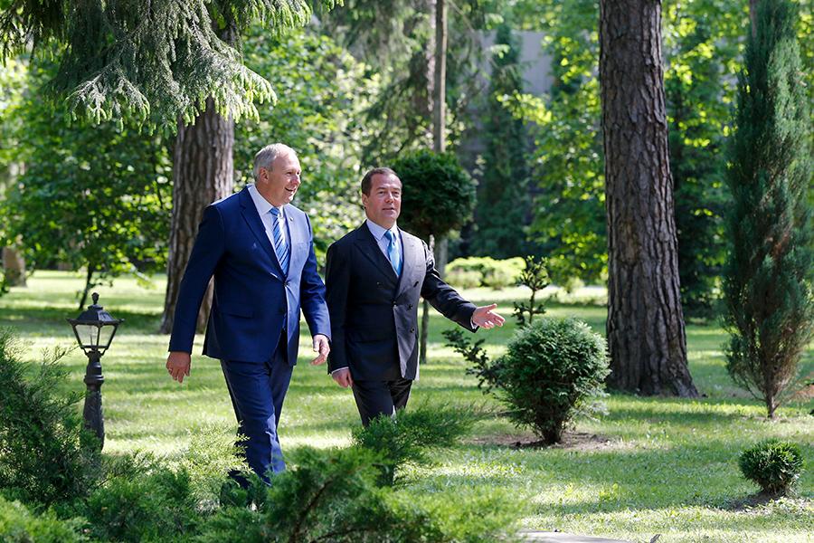 Сергей Румас и Дмитрий Медведев (слева направо)