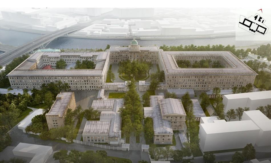 На территории появится центральный бульвар, атакже система скверов иобщественных пространств
