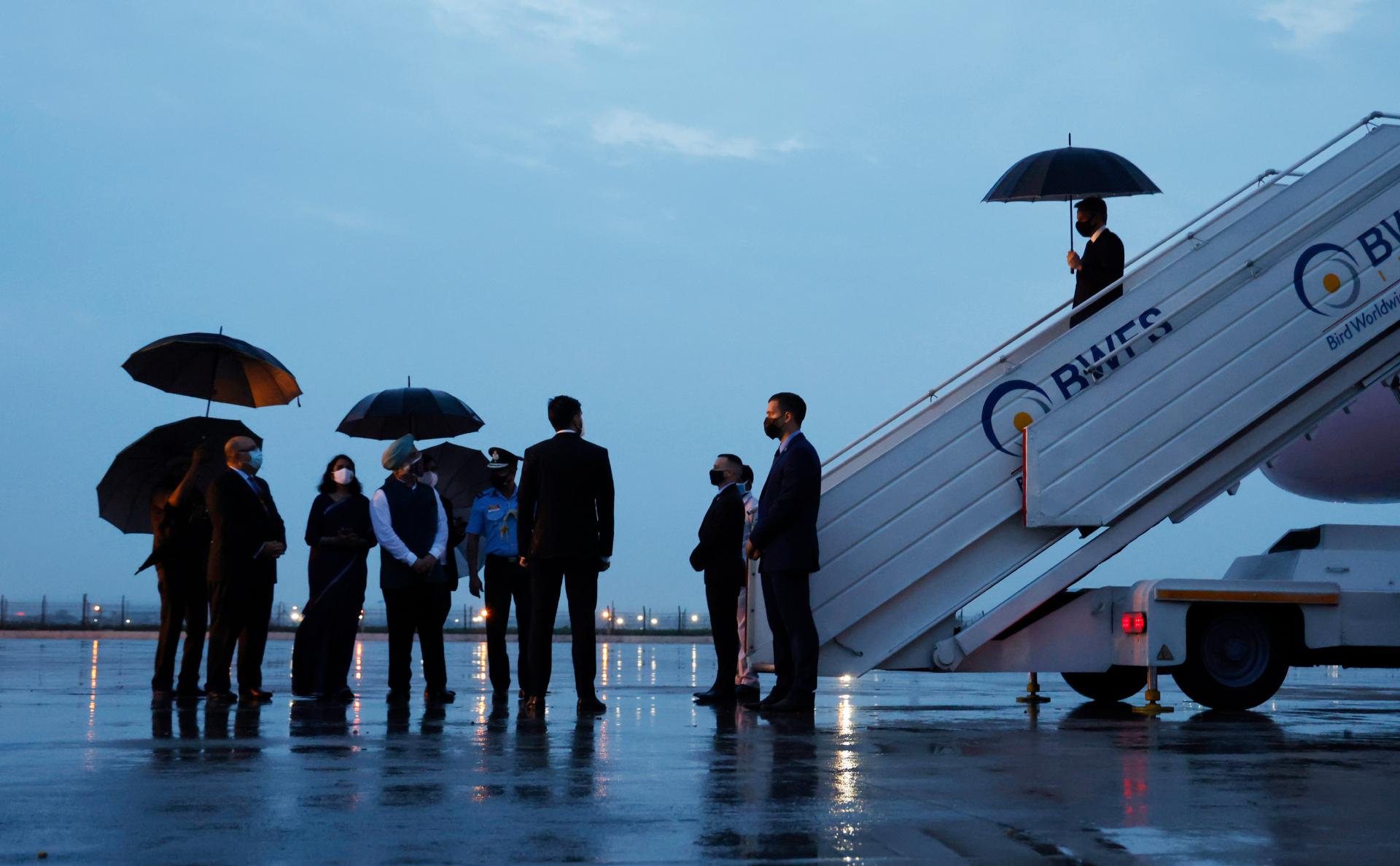 Энтони Блинкен прибыл в аэропорт Нью-Дели
