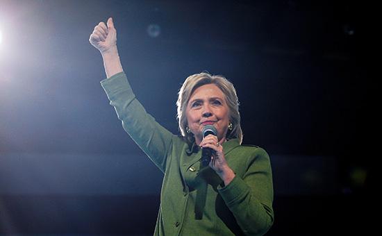 Кандидат в президенты США от Демократической партии Хилари Клинтон