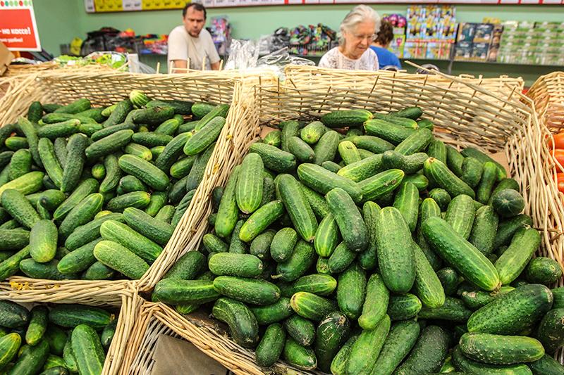 Огурцы свежие    Подорожали на14,9%    Причина роста цен на овощи – сезонность и высокая зависимость от импорта. В декабре прошлого года огурцы подорожали на 28,1%.
