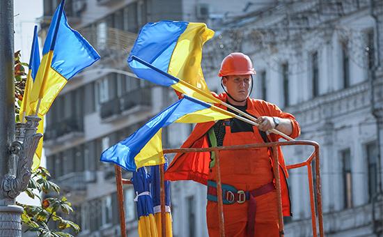 Подготовка к празднованию Дня независимости Украины в Киеве