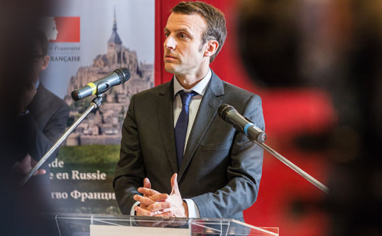 Министр экономики Франции Эмманюэль Макрон