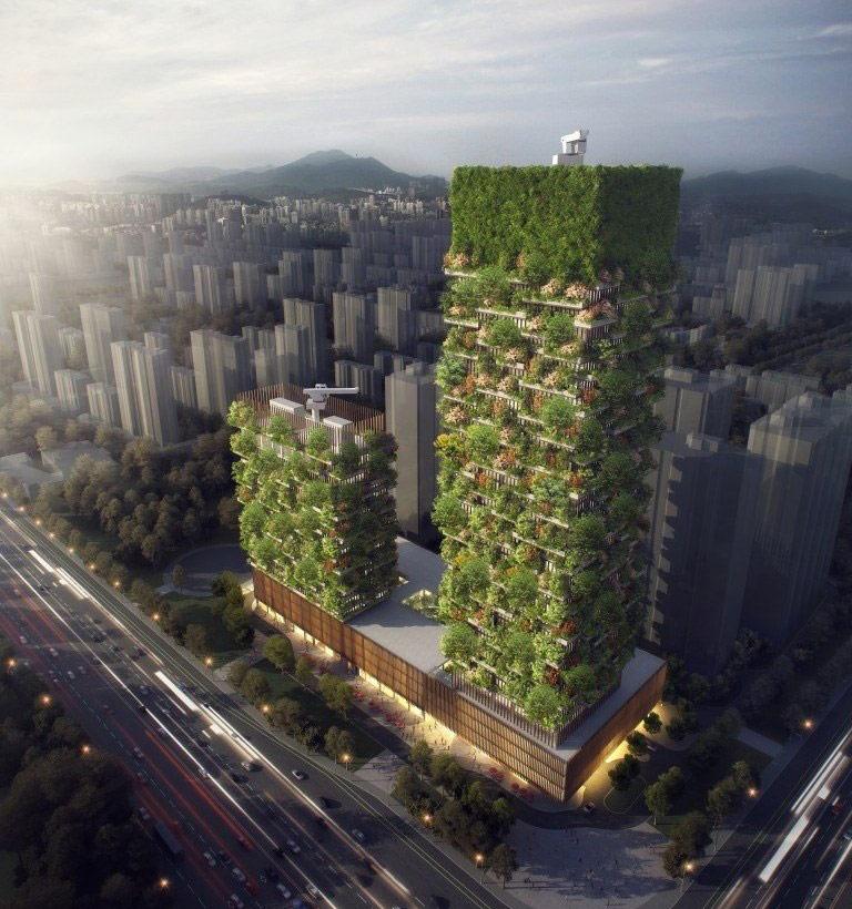 Ранее, в 2017 году, стало известно, что архитектор построит два небоскреба с использованием технологии вертикального озеленения в китайском городе Нанкин. «Зеленые башни Нанкина» будут копией его проекта Bosco Verticale («Вертикальный лес»), завершенного в Милане в 2015 году