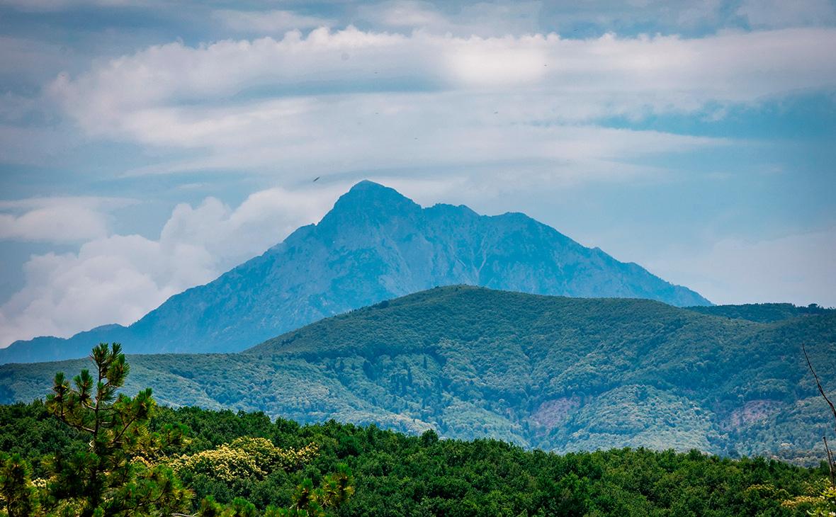 Вид на святую гору Афон