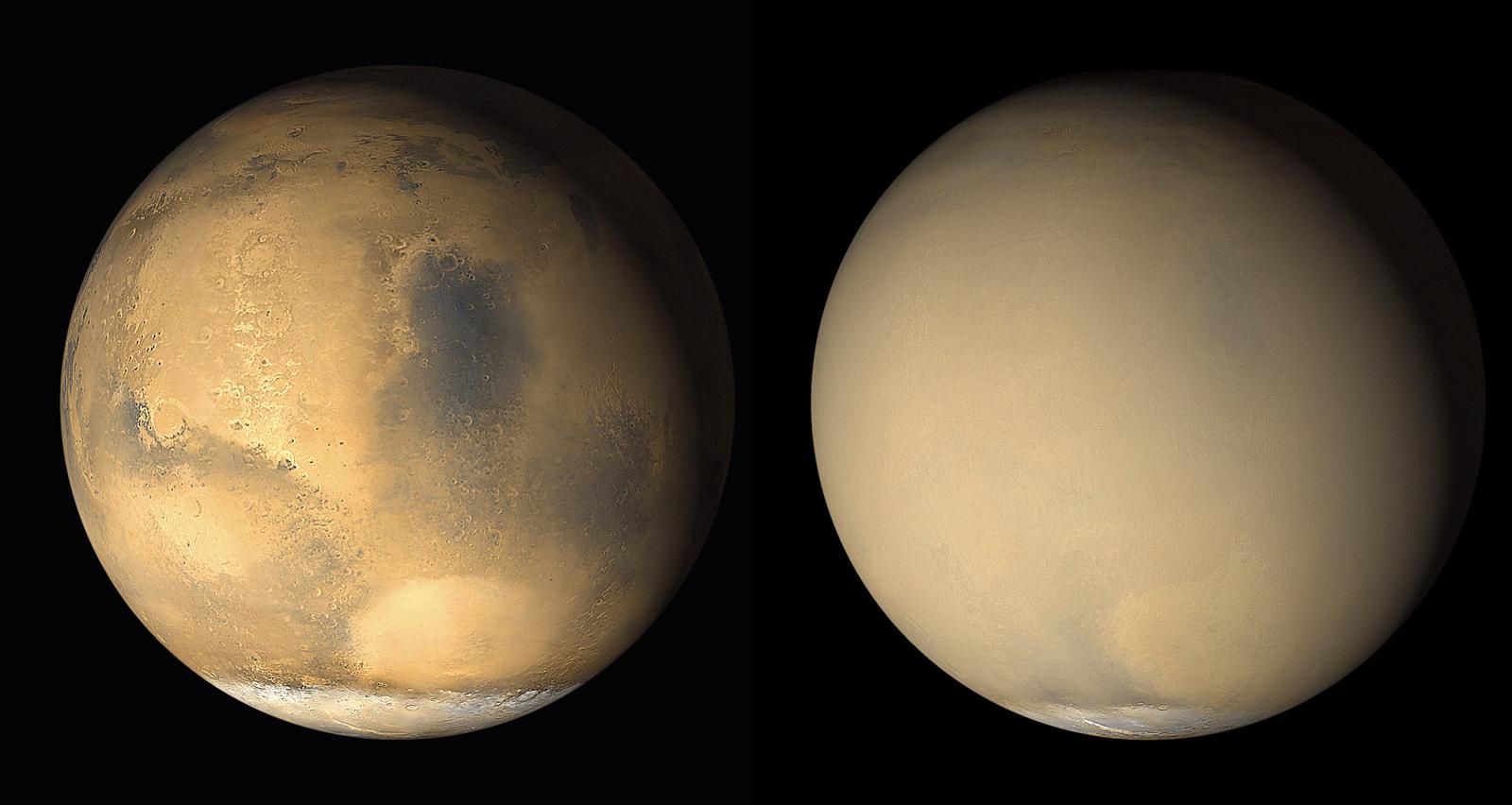 Пылевая буря на Марсе, 2001 год