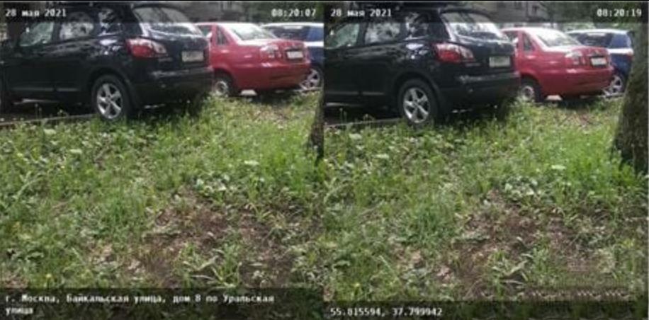 Водителя, который не хотел мешать проезжающим машинам и залез задними колесами на бордюр, оштрафовали за парковку на газоне