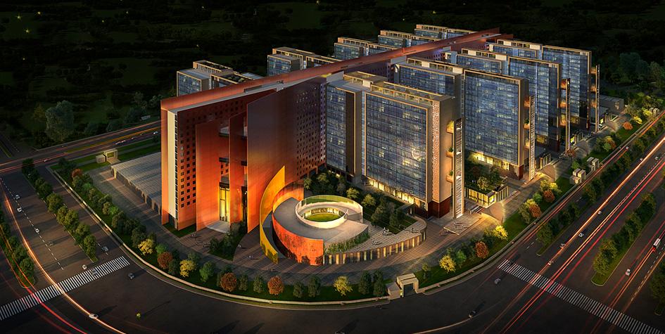 Визуализация офисного комплекса Surat Diamond Office
