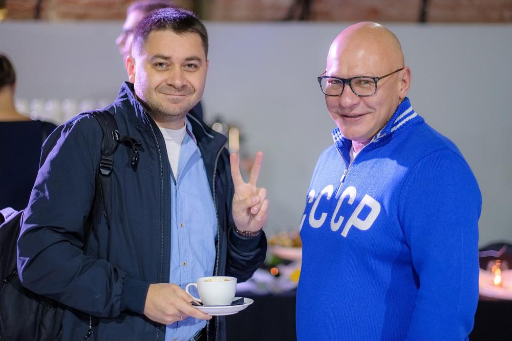 Фото:Илья Фоминцев (Фонд профилактики рака, номинант) и Александр Абдин («Евромед Групп»)