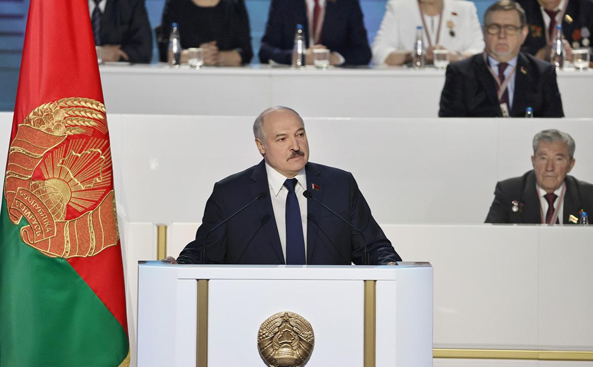 Президент Белоруссии Александр Лукашенко на VI Всебелорусском народном собрании во Дворце Республики, Минск