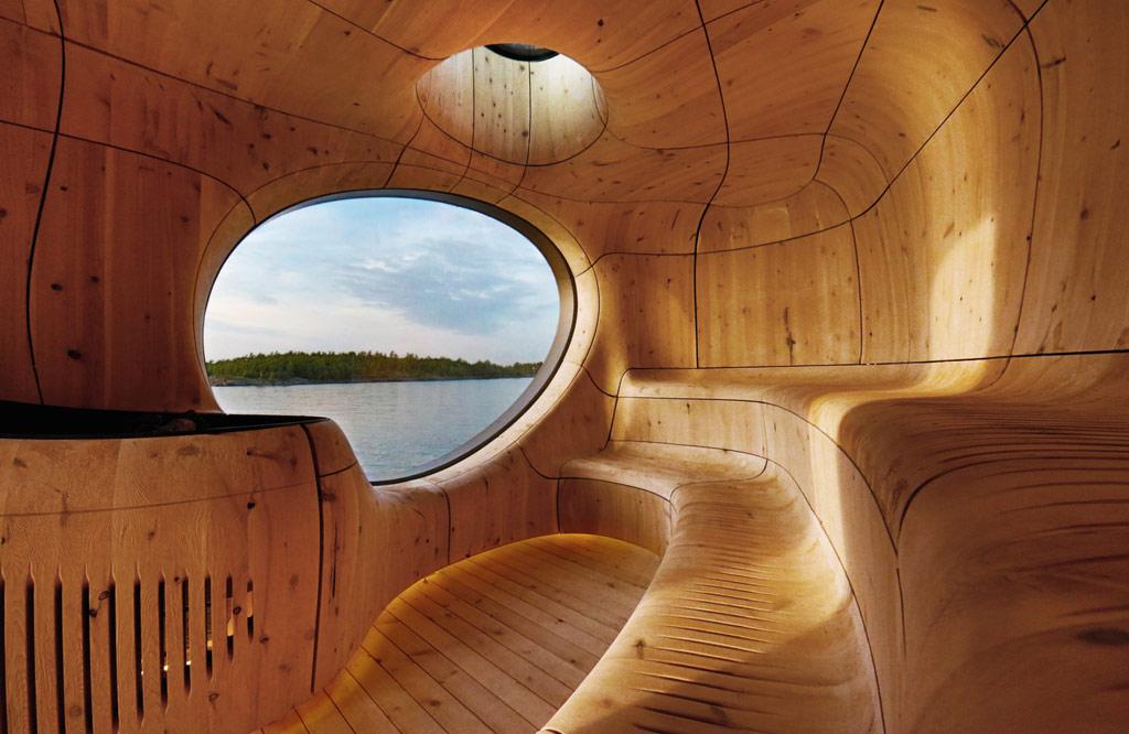 Одним из победителей в категории «Архитектура, строительство и дизайн зданий» стала построенная в 2014–2015 годах сауна-грот авторства канадского архитектурного бюро Partisans