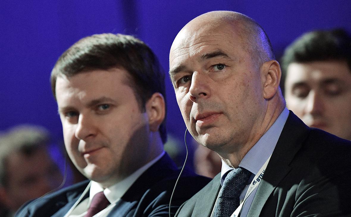 Максим Орешкин (слева) и Антон Силуанов