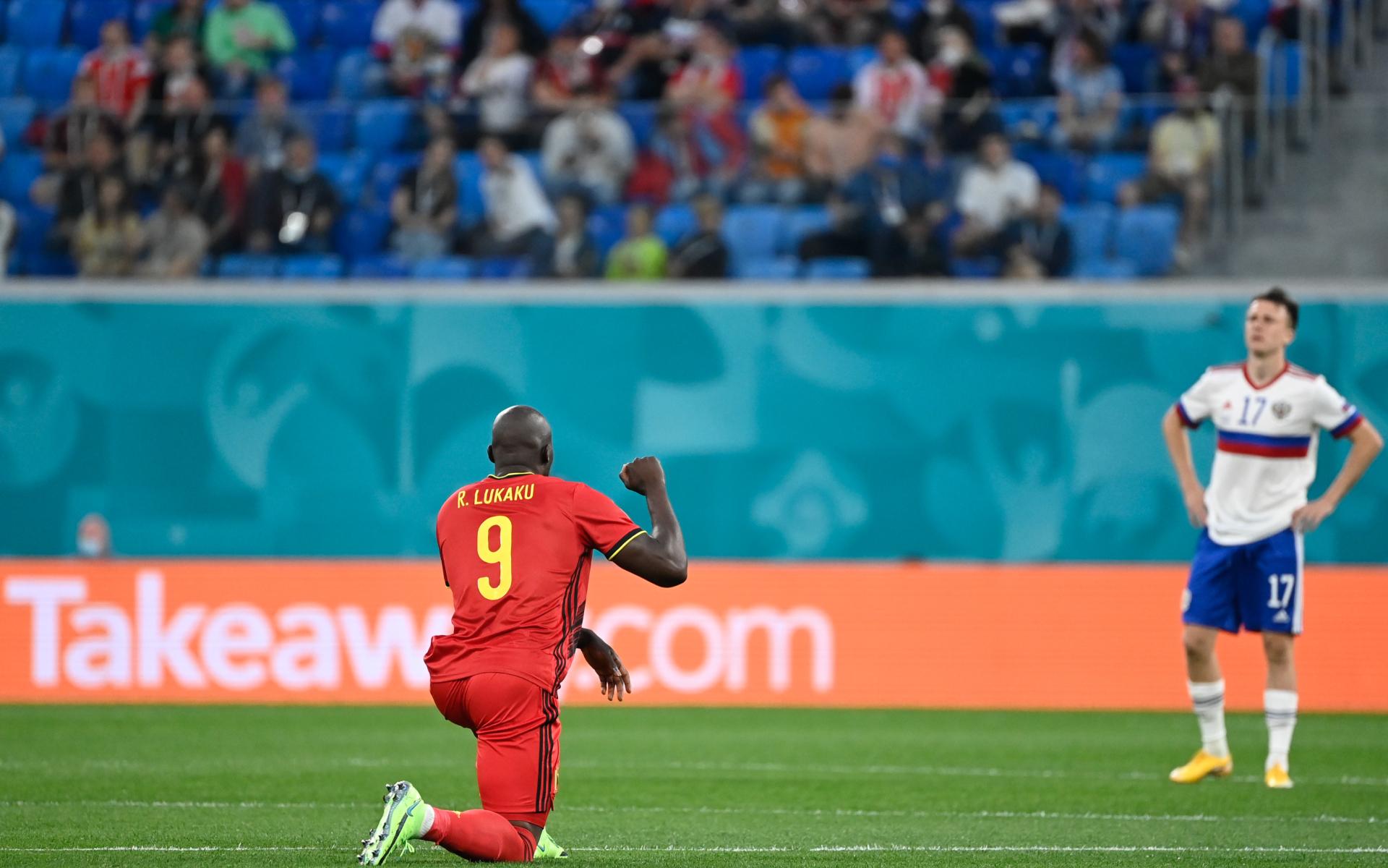 Фото: Перед началом матча Бельгия - России (Global Look Press)