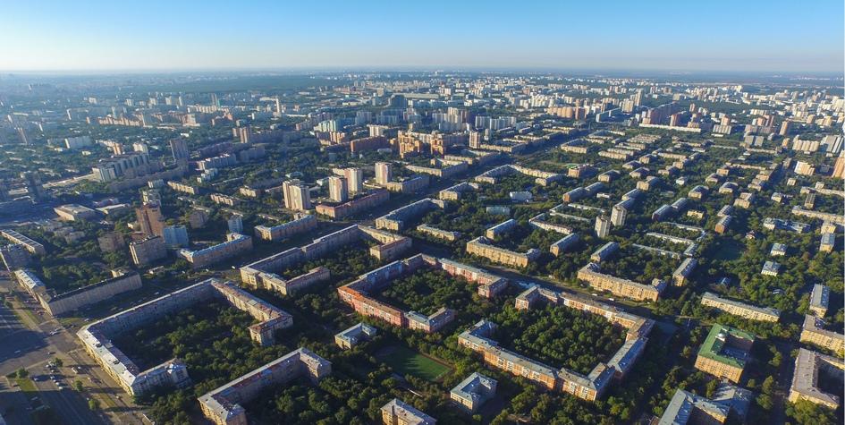Вид на Ломоносовский район Москвы
