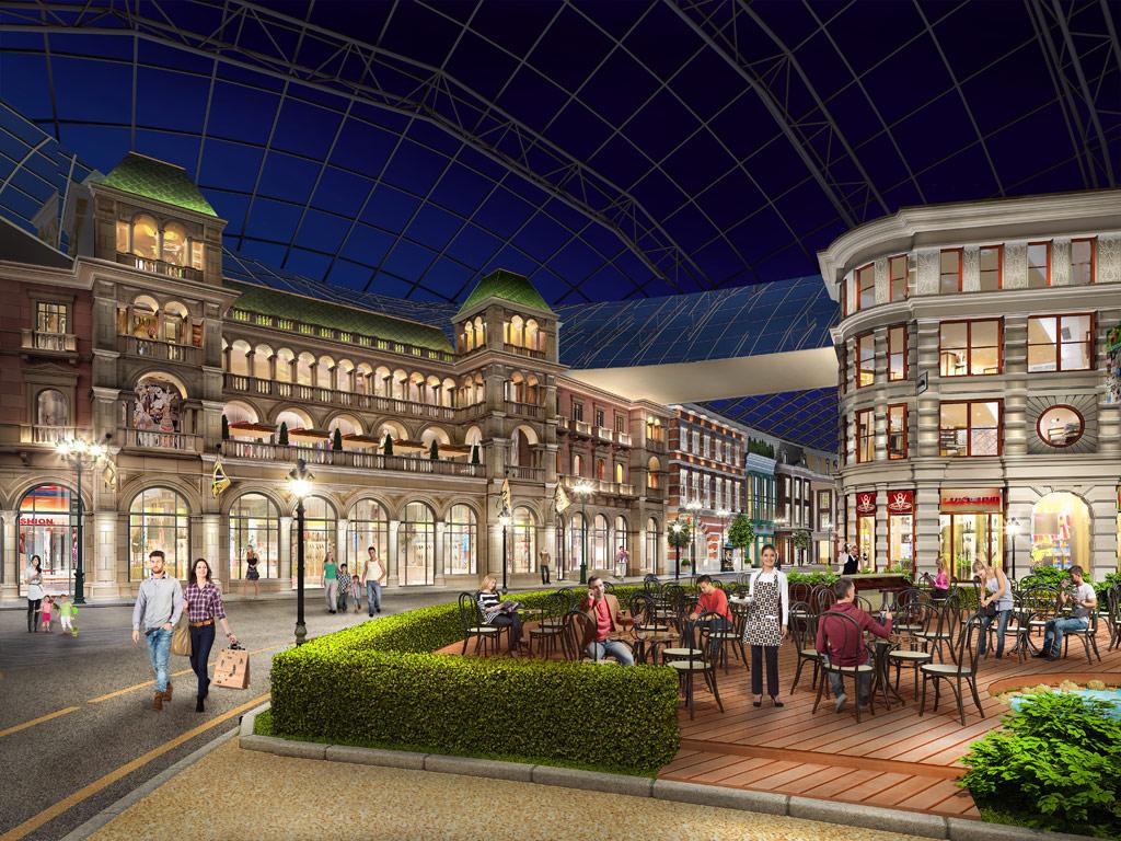 В импровизированном уличном пространстве городского променада разместятся 17 ресторанов, 13 кафе, шесть ресторанов с летними террасами, а также тематические магазины