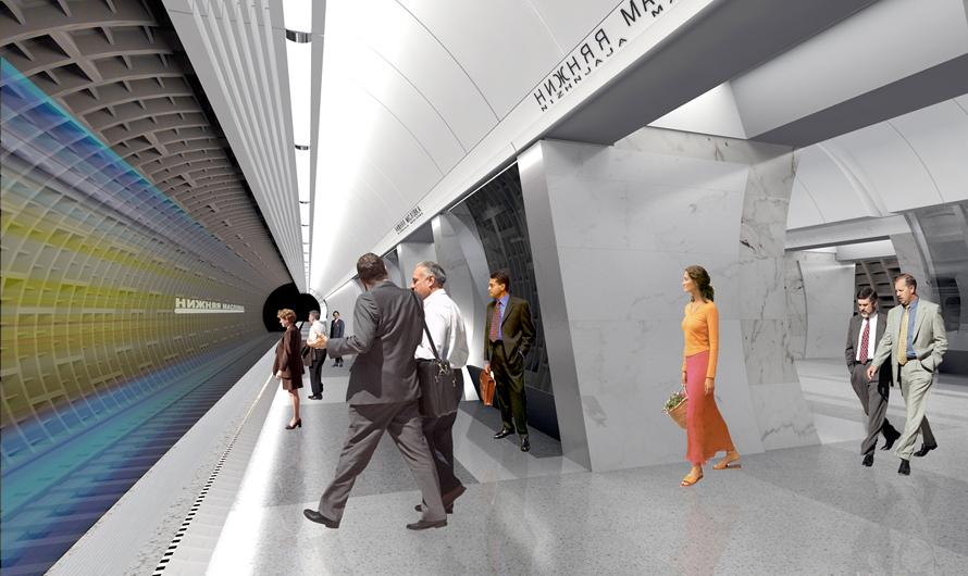 В отделке «Нижней Масловки» будет активно использоваться чугун. Этот материал обычно задействуют припрокладке тоннелей—позадумке авторов, пространство новой станции должно напоминать тоннель дляпоездов