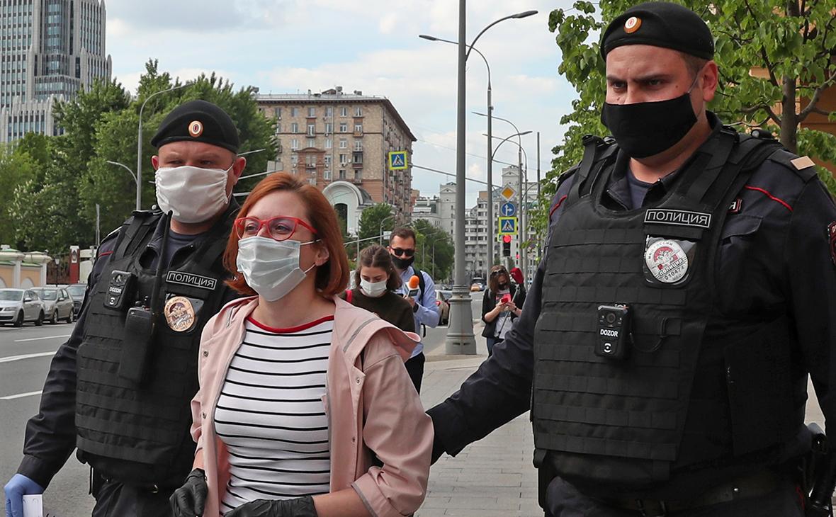 Задержание журналистки «Эха Москвы» Татьяны Фельгенгауэр