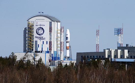Ракета-носитель «Союз-2.1а» настартовом комплексе космодрома Восточный