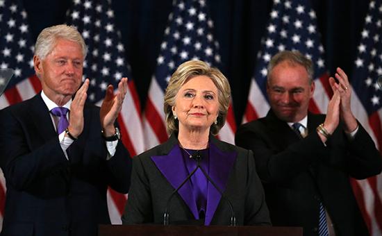 Кандидат от Демократической партии США Хиллари Клинтон