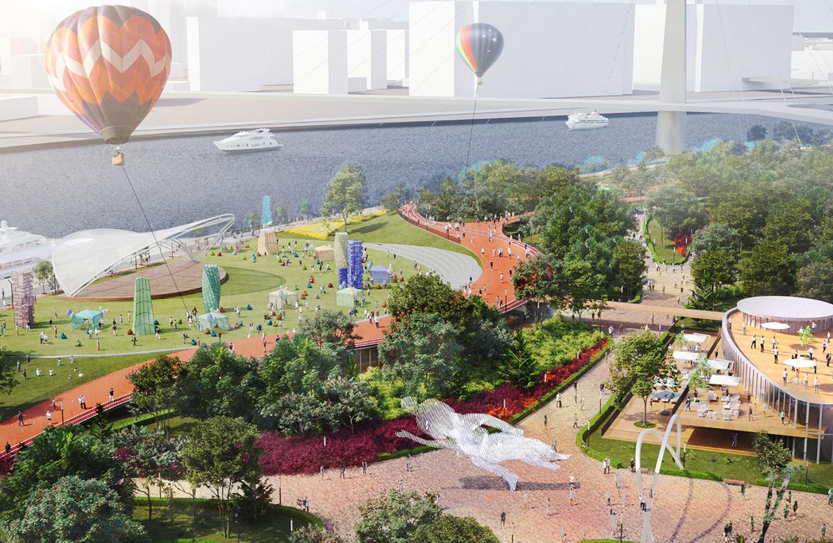 В новом парке появятся три зоны с павильонами для организации зрелищных мероприятий и концертов
