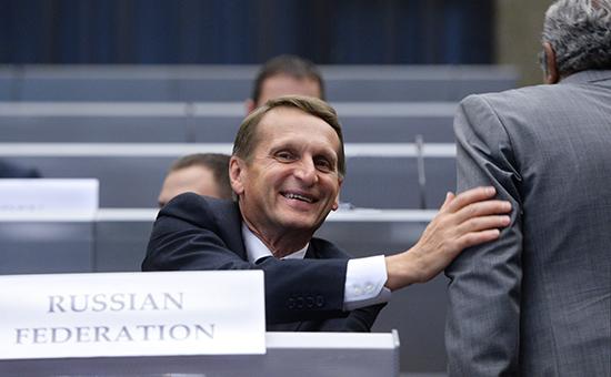 Спикер Госдумы Сергей Нарышкинпринимает участие в сессии Парламентской ассамблеиОБСЕ. Архивное фото