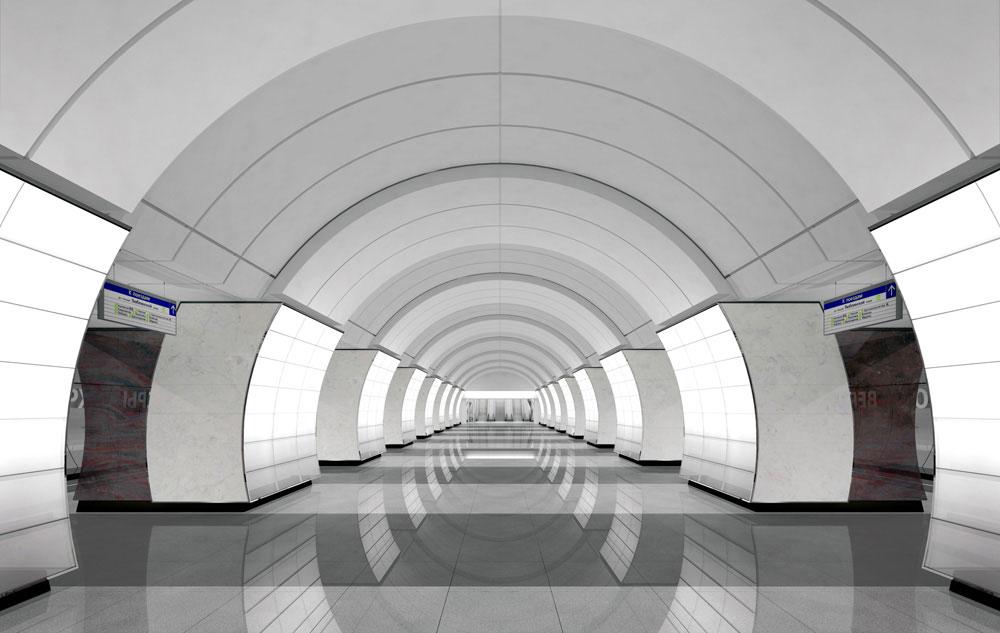 Станция «Верхние Лихоборы» Люблинско-Дмитровской линии метро