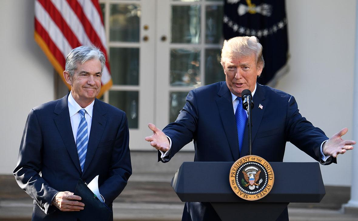 Джером Пауэлл и Дональд Трамп (слева направо)