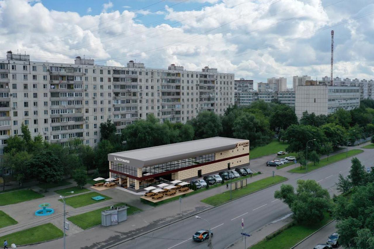 Первый проект районного фуд-холла от Agastone стартует уже этим летом на улице Декабристов рядом со станцией метро «Отрадное» (рендер)