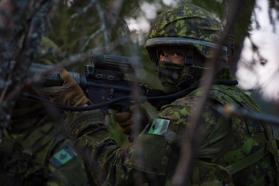 Военнослужащие канадской армии во время учений