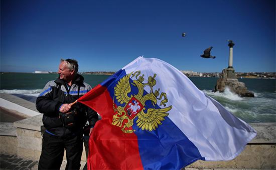 Житель Севастополя после референдума. Март 2014 года