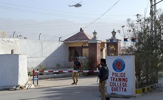 Полиция Пакистана на месте происшествия
