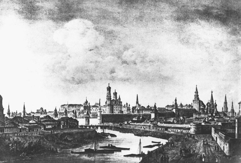 Москва, 1825год. Вид наЗамоскворечье