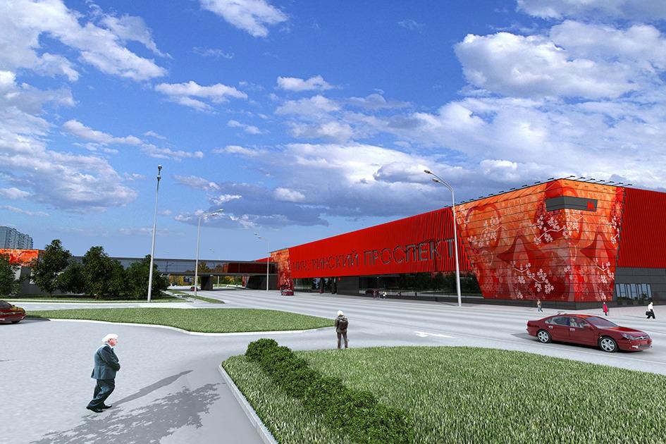 Вестибюли станции будут облицованы алюминиевыми панелями